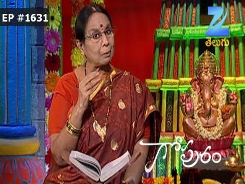 Gopuram - Episode 1631 - October 18, 2016 - Full Episode