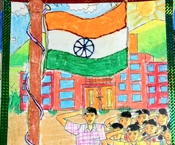 Winners of 'Republic Day Art Contest' for Essel juniors 'India of my dreams'