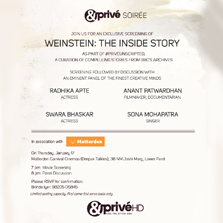 Watch the dark life of Harvey Weinstein unfold in 'Weinstein: The inside story' at &Prive Soiree!