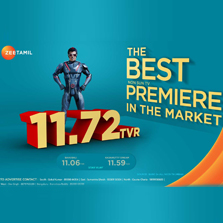 2.0 marks history as Zee Tamil's highest rated movie premiere; channel ranks as 7th most watched channel in the country