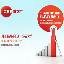 Zee Bangla soaring high at 706 GRPs