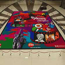 Zee Talkies makes a larger than life Rangoli on occasion of Maharashtra Din
