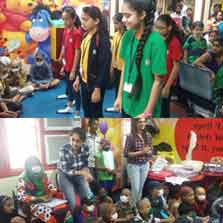 Mount Litera School International's students meet kids suffering from cancer at Tata Memorial Hospital