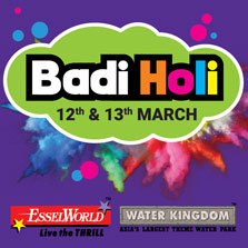 Celebrate a fun-filled & eco-friendly Holi at EsselWorld and Water Kingdom!