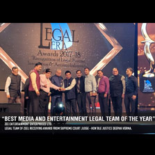 ZEEL Sweeps All the Awards In Media & Entertainment Category At Legal Era Awards 2017-18