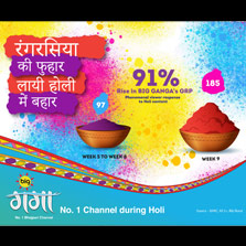Big Ganga Tops the Charts with whopping 185 GRPs During The Holi Week