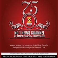 Zee Madhya Pradesh Chhattisgarh celebrates 75 weeks in a row as the No. 1 News Channel of Madhya Pradesh and Chhattisgarh
