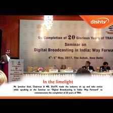 DishTV Chairman & MD, Mr. Jawahar Goel speaks at the Seminar on 'Digital Broadcasting in India: Way Forward' to commemorate the completion of 20 years of TRAI