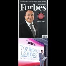 Mr. Gagan Goel, Chairman & Managing Director, Essel Group Middle East (EGME) features in Forbes Middle East's list of 'Top 100 Indian Business Owners In The Arab World 2017'