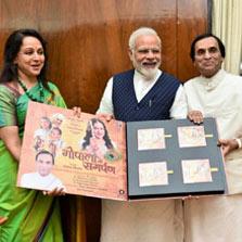 Hon'ble Prime Minister of India, Shri Narendra Modi releases Zee Music Company's album 'Gopala Ko Samarpan'