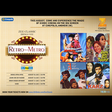 Zee Classic presents Retro In A Metro 3rd August onwards in Mumbai