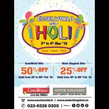Celebrate fun filled & eco-friendly Holi at EsselWorld and Water Kingdom!