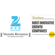 ZEE features in Forbes' list of the World's 100 Most Innovative Growth Companies