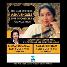Zee TV Africa brings you The Last Empress - Asha Bhosle in her Farewell Tour