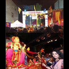 Amruta Fadnavis, wife of Chief Minister of Maharashtra, Devendra Fadnavis attends ZEE Ganesh Utsav in New Jersey