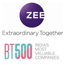 ZEE features in Business Today's '500 Most Valuable Companies in India' for 2017
