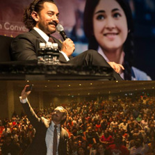 Bollywood's best takes centre stage at Marina Bay Sands - Aamir Khan walked the red carpet, inspired youth and met fans all in one day