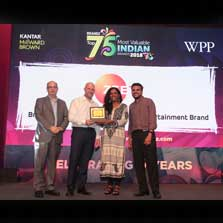ZEE shines as the number one entertainment brand in WPP and Kantar Millward Brown's BrandZ Most Valuable Indian Brands analysis
