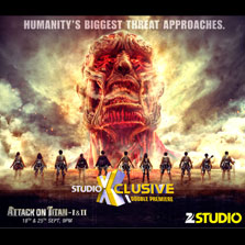 Studio XClusive Double Premiere - Attack on Titans I & II this September