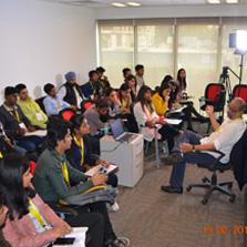 Aditya Seth from Mumbai conducts a Documentary Filmmaking Workshop at ZIMA Noida