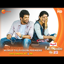 Zee Telugu to announce lucky winners every 5 minutes during the telecast of Geetha Govindam