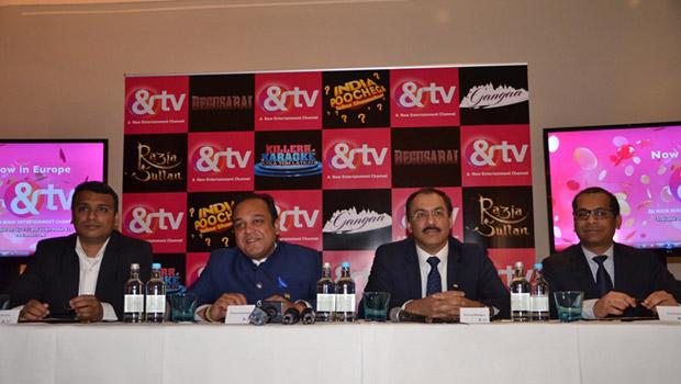 CEO Puneet Goenka addressing the press during the &TV UK Launch