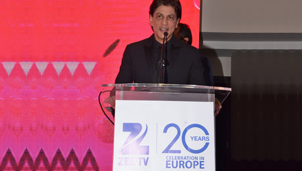 SRK addressing the media during the &TV UK Launch