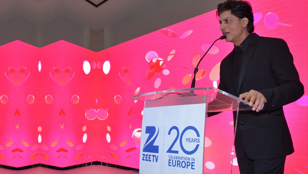 Shah Rukh Khan addressing the press conference during the &TV UK Launch