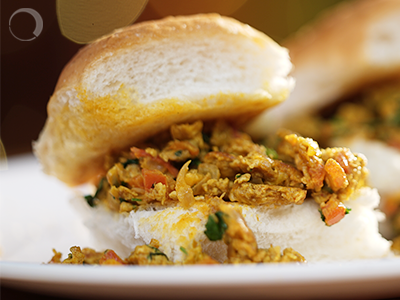 Bhurji Pav – Because nothing can be eggless in this world.