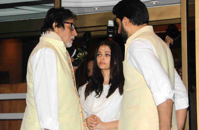B-Townies At Aishwarya Rai Bachchan's Late Father's Prayer Meet