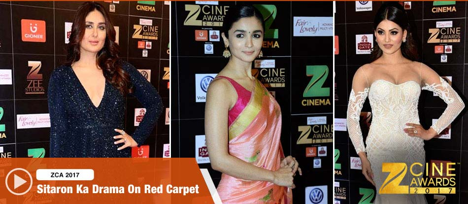 Bollywood Stars On The ZCA Red Carpet 2017