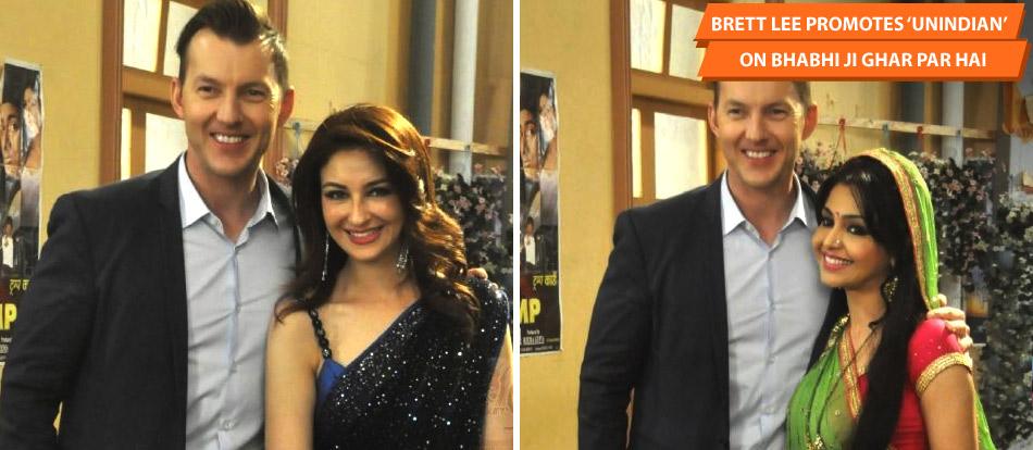 Brett Lee Promotes 'UnIndian' On Bhabhi Ji Ghar Par Hai