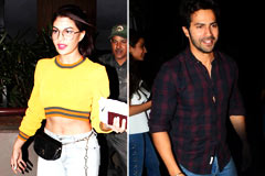 Celeb Spotting: Varun Dhawan, Alia Bhatt & Jacqueline Fernandez