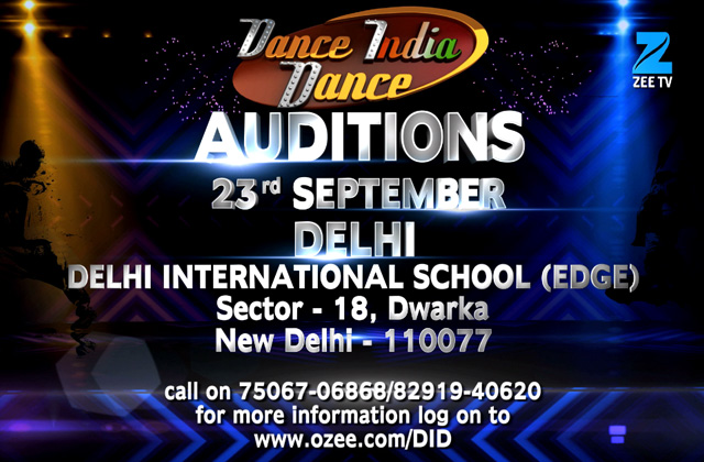 Dance India Dance - Auditions | 23rd September at Delhi