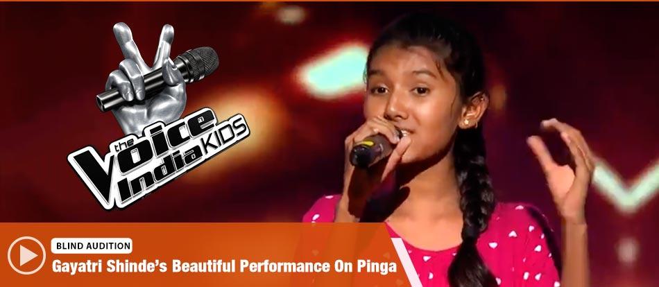 Gayatri Shinde Sings Pinga Song The Voice India Kids Season 2 - November 18, 2017   &(AndTv)
