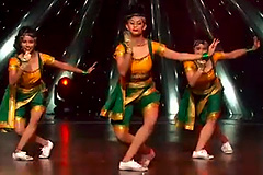 Kalpita, Shweta Sharda and Shweta Warrior's Hip Hop Dance Style Lavani Performance on Aye Hip Hopper Song Dance India Dance 2017 - December 2   ZEETV