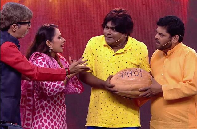 Nilesh Sable, Bharat Ganeshpure, Shreya Bugde & Bhau Kadam's Funny Act | Zee Marathi Awards 2017