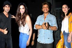 Ranbir, Shahrukh & Deepika At Imtiaz's B'day Bash