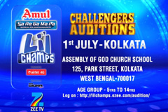 Sa Re Ga Ma Pa Li'L Champs - Challengers Auditions | at kolkata On 1st July