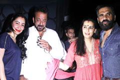 Sanjay Dutt Grab Eyeballs At Suneil Shetty's Launch Party