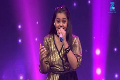 Shanmukhpriya Sings Aunty Ji Sa Re Ga Ma Pa Lil Champs 2017 - October 7, 2017   ZEETV