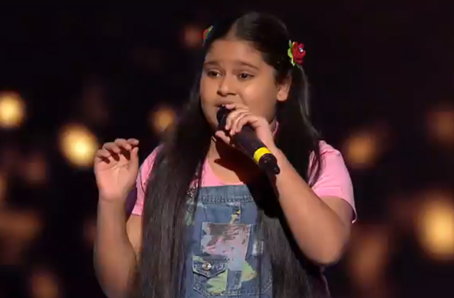 Sneha Shankar Sings Yaad Piya Ki Aaye The Voice India Kids Season 2 - November 12, 2017 | &(AndTv)