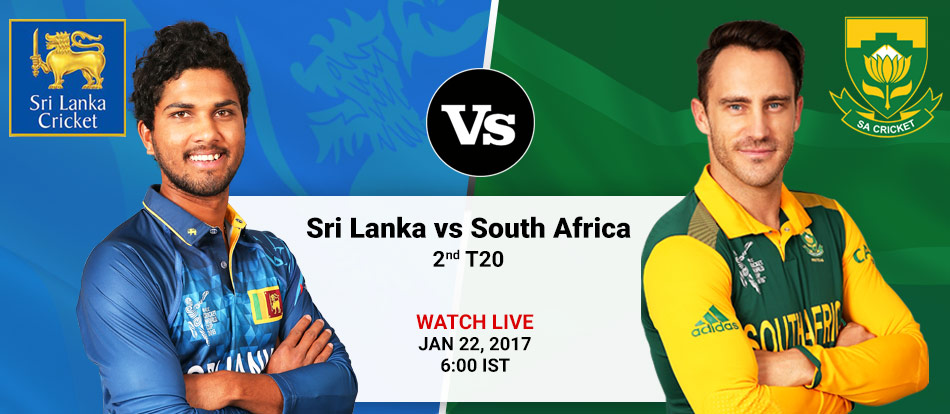 South Africa vs Sri Lanka 2nd T-20 Live Streaming
