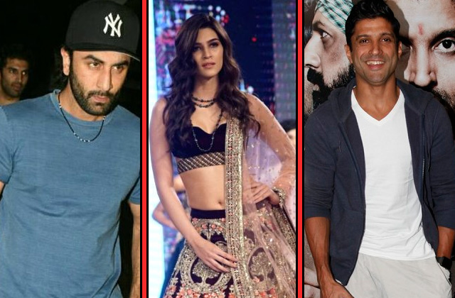 Stars Spotting: Ranbir Kapoor, Kriti Sanon & Farhan Akhtar