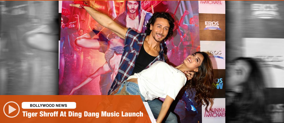 Tiger Shroff At Ding Dang Music Launch