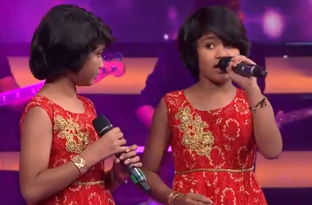 Tithi & Tithiksha Sings Kajra Mohabbat Waala The Voice India Kids Season 2 - November 11, 2017 | &(AndTv)