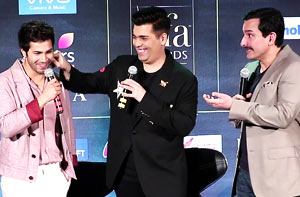 Varun, Karan & Saif's Funny Antics @ IIFA Meet