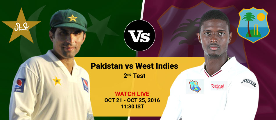 West Indies VS Pakistan 2016 2nd Test Live Streaming
