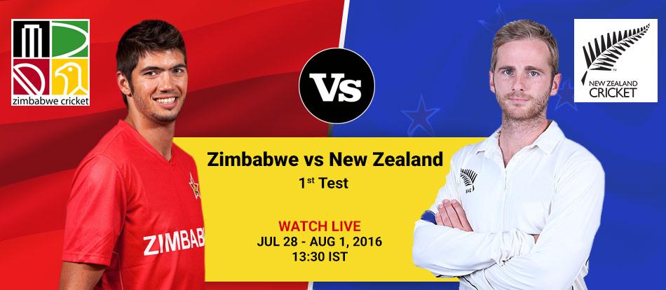 Zimbabwe vs New Zealand 2016 1st Test Live Streaming