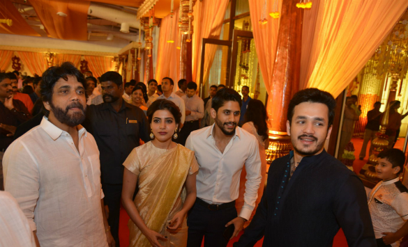 Nag, Samantha in Nimmagadda Daughter's Wedding